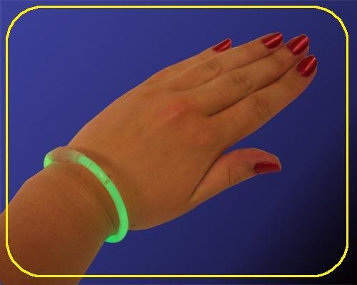 Knicklicht Armbänder grün, 20cm, 100 Stk. – Bild 2