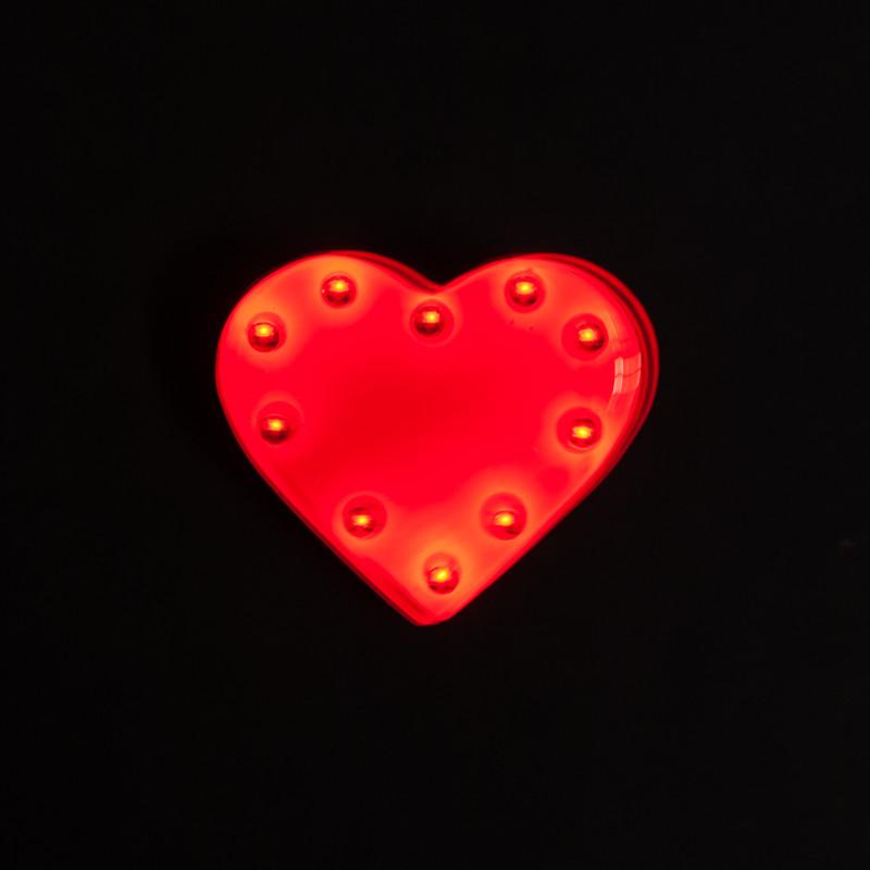 Blinkie Herz mit Anstecker,10 LEDs in 3 Farben – Bild 1
