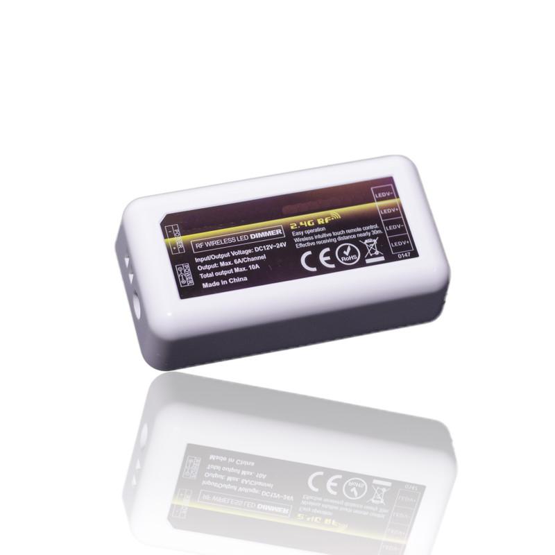 Easy Serie LED Funk-Dimmer für einfarbige LED | 4 Zonen | 12/24 V | 2,4 GHz – Bild 1