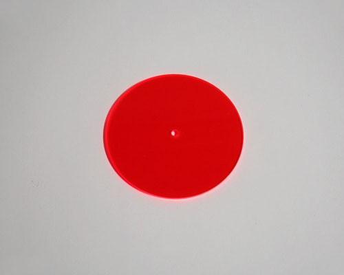 rote Sonnenfänger Scheibe Ø 100x3mm Acryl fluo – Bild 1