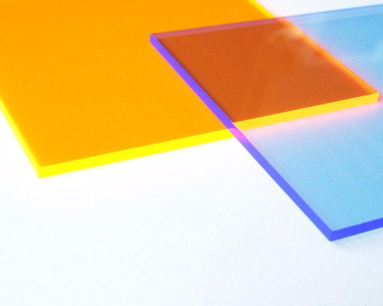 gold-gelbes fluo Quadrat midi 16,5 cm ohne Loch – Bild 1