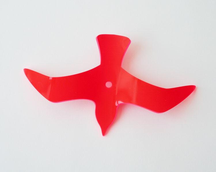 Fluo Vogel Wing, rot, 18 cm ohne Stab Ø 5mm – Bild 3