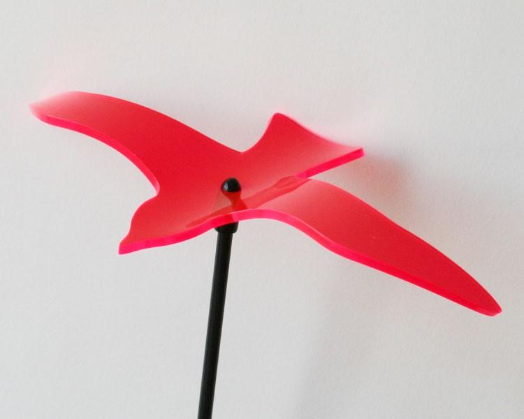 Fluo Vogel Wing, rot, 18 cm ohne Stab Ø 5mm – Bild 1