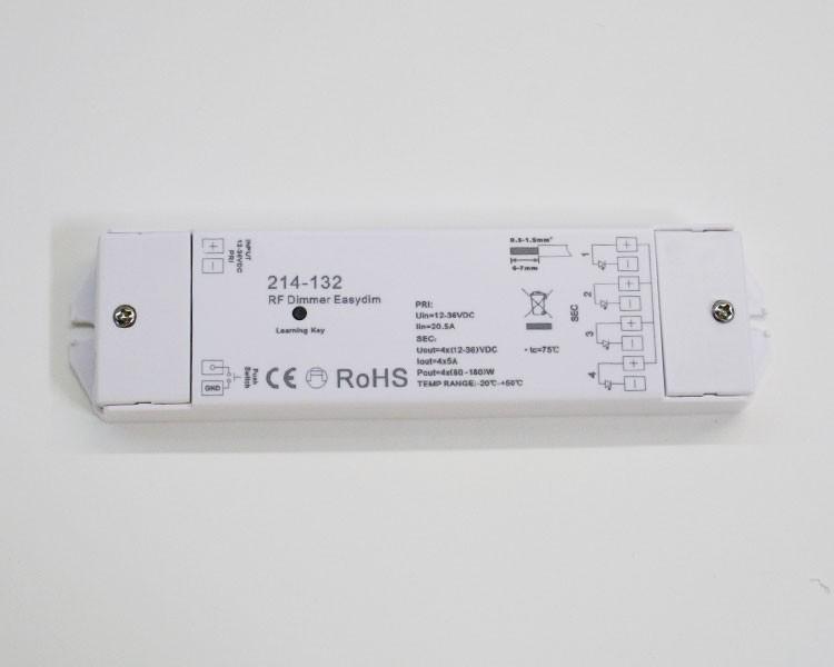Pro Serie Dimmer Empfänger 12 V / 24 V, 4 Kanäle, max. 20 A – Bild 2