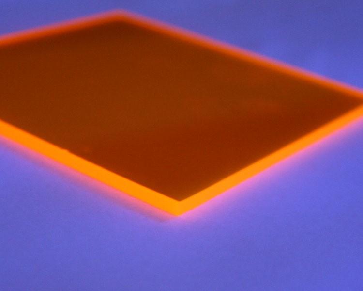 Lucy PMMA Platte 3mm | 335x250 mm | fluo gold-gelb – Bild 2
