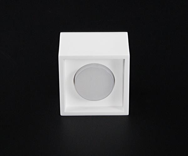 Caja IV, Gips weiß, 240V, 1x GX53, max. 13W, Deckenaufbauleuchte – Bild 3