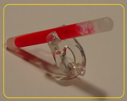 Knicklicht Toe Glow Finger/Zehring + 2 Minis grün – Bild 3