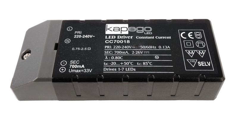 BASIC, CC70018 700 mA 2-26V DC Schwarz 230V AC 18 W - Netzgerät – Bild 1