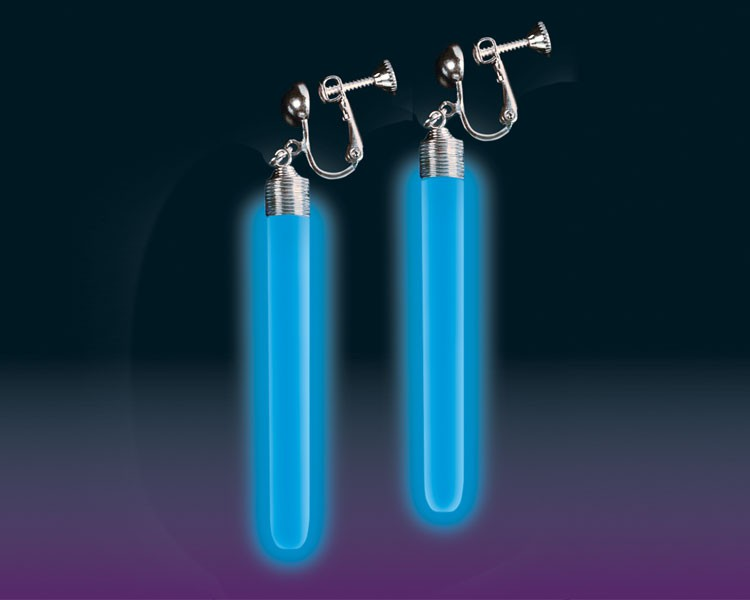 Knicklicht Ear Glow Ohrringe blau