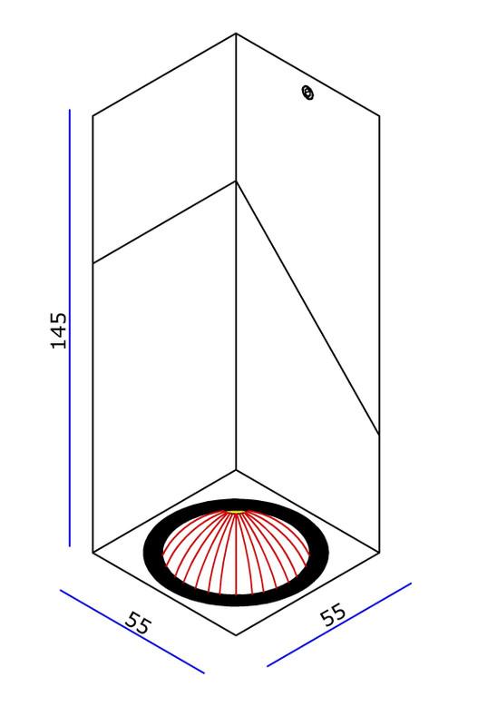 Syke I Weiß 40° 230V AC 7 W 500 lm 3000 K - Deckenaufbauleuchte – Bild 4