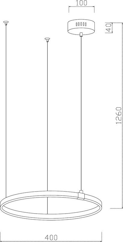 Elaro 400, 230V, 15W, Pendelleuchte – Bild 4