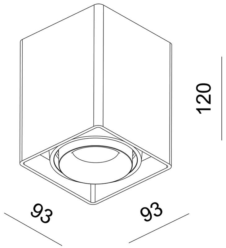 Mona I Braun 230V AC 1x max. 50 W - Deckenaufbauleuchte – Bild 4
