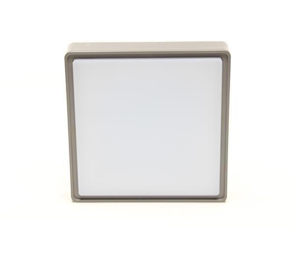 10W Quadrata I, grau, 230V, 4000K, IP65, Deckenaufbauleuchte, – Bild 5