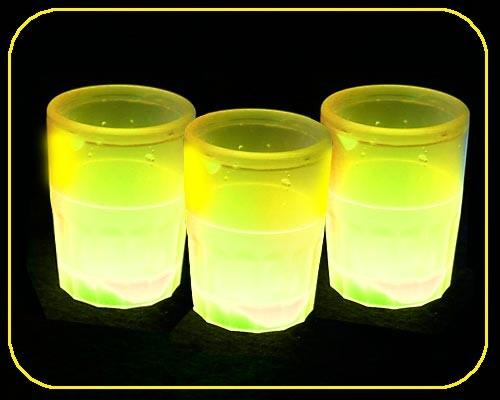 Glow Shot Glas, 4,4 cl, gelb – Bild 4