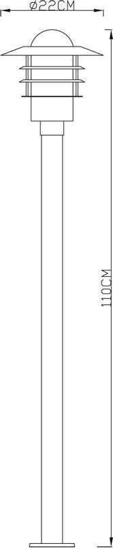 Stehleuchte, Gorro, silber, 230V, 1x E27, max. 60W – Bild 3