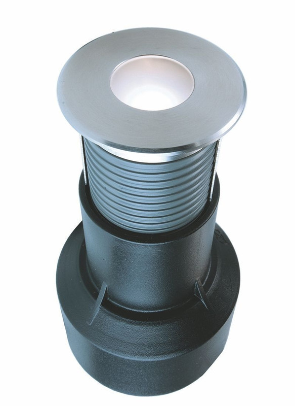 Basic Round I WW silberfarben 60° 24V DC 0,60 W 15 lm 3000 K - Bodeneinbauleuchte – Bild 1