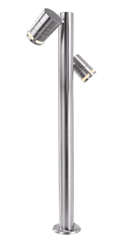 Stehleuchte, Zilly II, Edelstahl, 230V, 2x max. 35W GU10, IP44 – Bild 1