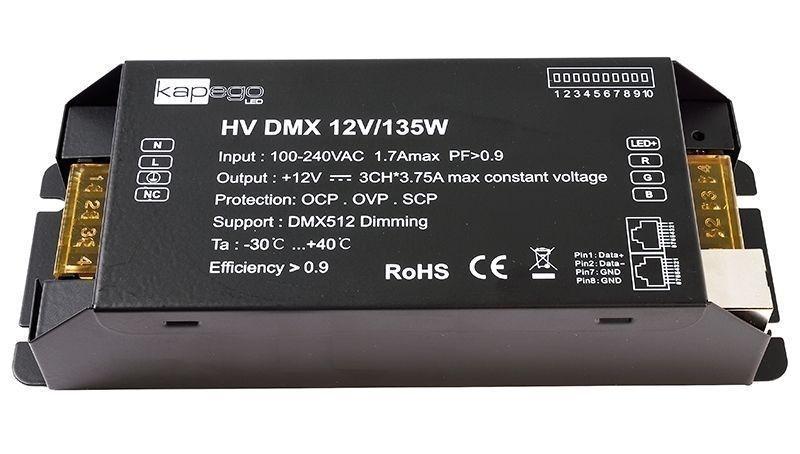HV DMX 12V/135W 12V DC Schwarz 230V AC 135 W - Netzgerät – Bild 1