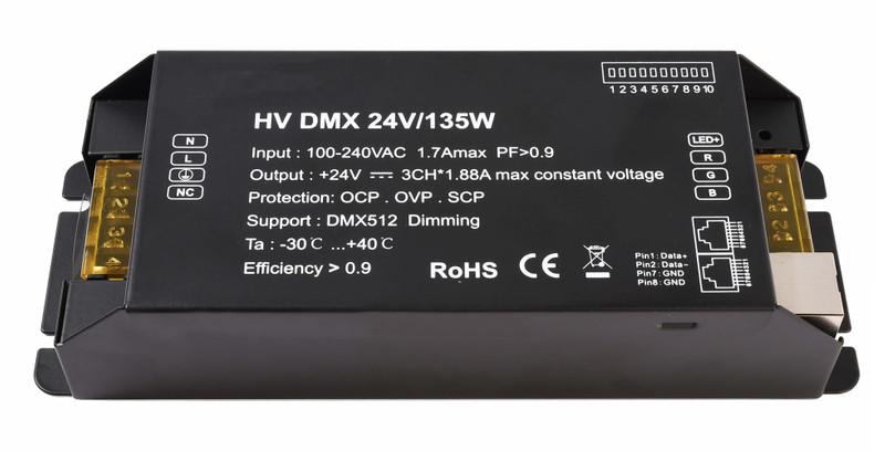 HV DMX 24V/135W 24V DC Schwarz 230V AC 135 W - Netzgerät – Bild 1