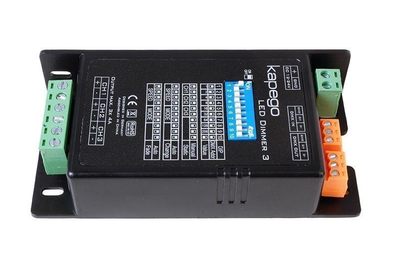 LED Dimmer 3 Schwarz 12-24V DC 288 W - Controller – Bild 1