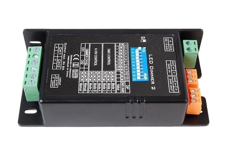 LED Dimmer 2 Schwarz 12-24V DC 288 W - Controller