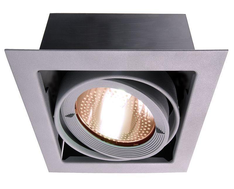 Kardan Silber-matt 230V AC 1x max. 70 W - Deckeneinbauleuchte