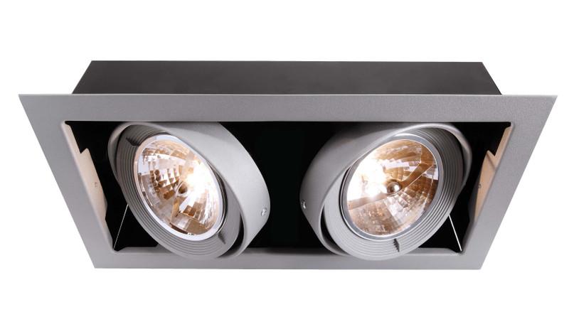 Kardan Silber-matt 230V AC 2x max. 70 W - Deckeneinbauleuchte – Bild 1