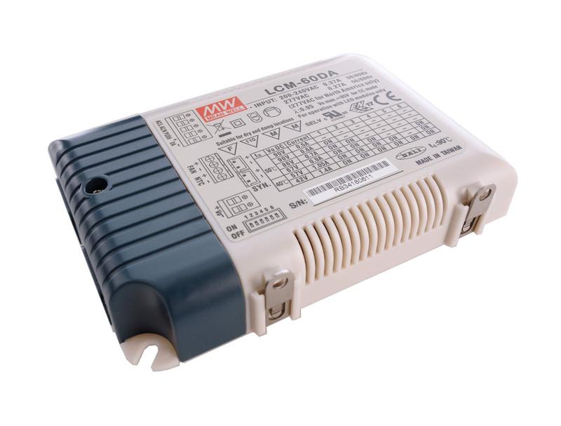 LCM-60DA Integration in DALI-Netzwerke 500/600/700/900/1050/1400 mA 2-90V  Weiß 230V AC 60,30 W - Netzgerät – Bild 2