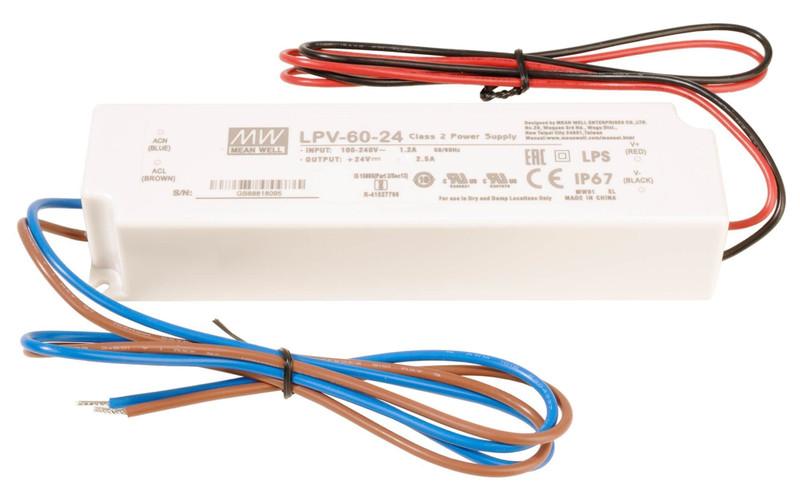 LPV-60-24 0-2500 mA 24V DC Weiß 230V AC 60 W - Netzgerät