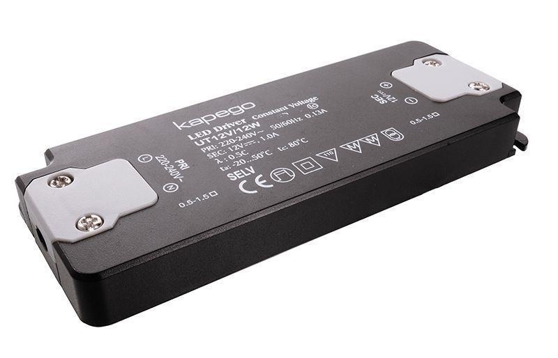FLAT, UT12V/12W 0-1000 mA 12V DC Schwarz 230V AC 12 W - Netzgerät – Bild 2