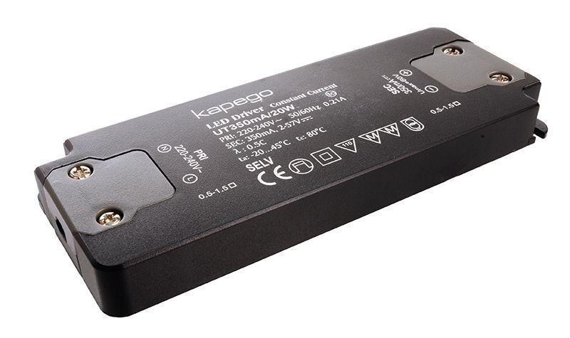 FLAT, UT350mA/20W 350 mA 2-57V DC Schwarz 230V AC 20 W - Netzgerät – Bild 2