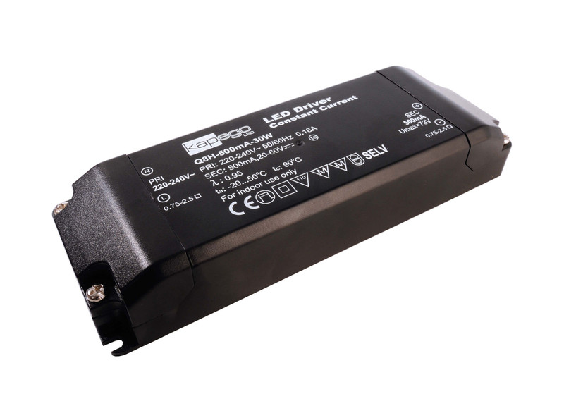 BASIC, Q8H-500mA/30W 500 mA 20-60V DC Schwarz 230V AC 30 W - Netzgerät – Bild 3