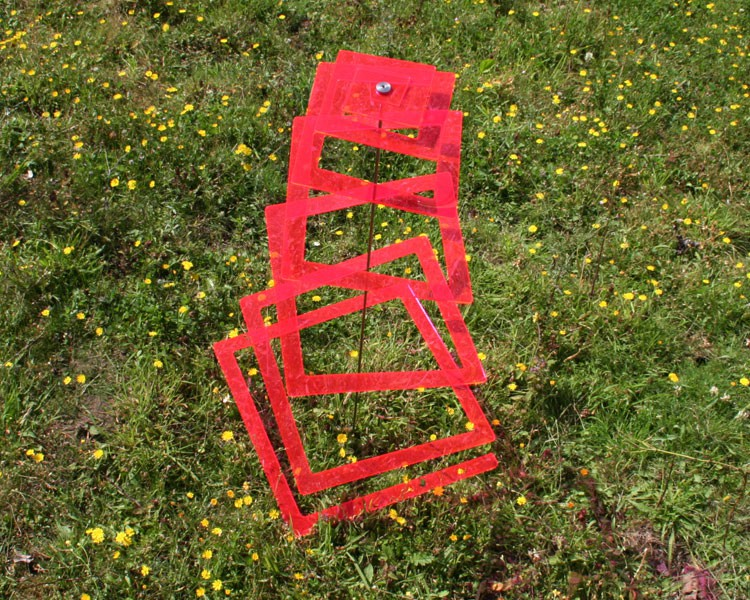 rechteckige LISA Hängespirale rot 37 cm ohne Stab