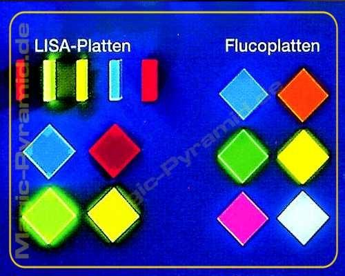 Fluco Leuchtplatte 3mm fluoreszierend opak blau