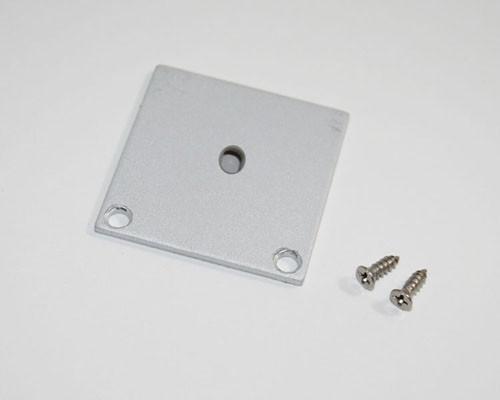 2 Endkappen grau für 126-243 Alu U-Profil 35x35mm – Bild 3