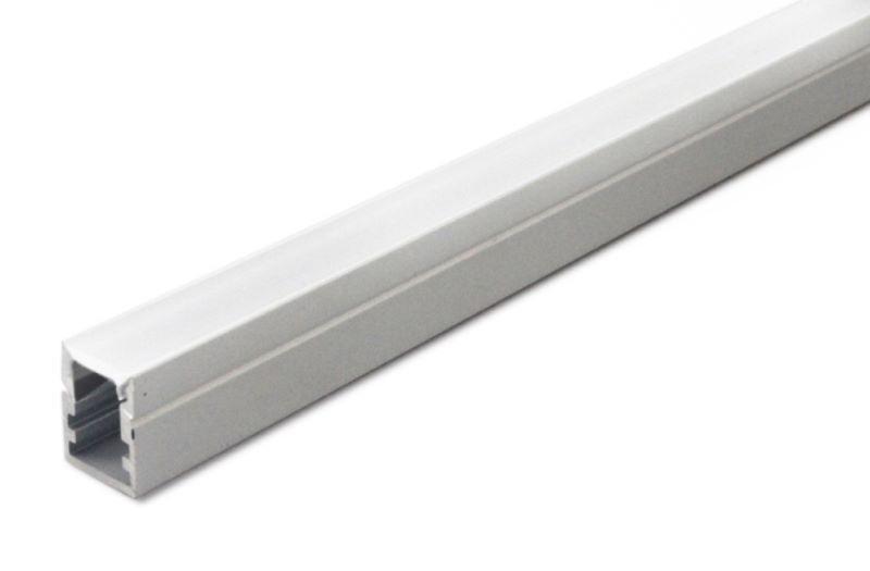 1m Mini U-Profil | Alu | 10x13mm | milchige Abdeckung – Bild 2