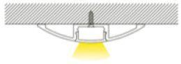 1m Bodenprofil | Alu Flügel | 57x10mm | weiss matte Abdeckung – Bild 3