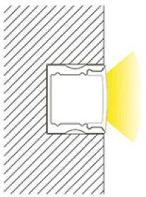 1m U-Profil | Alu hoch | 17x15mm | weiß matte Abdeckung – Bild 4