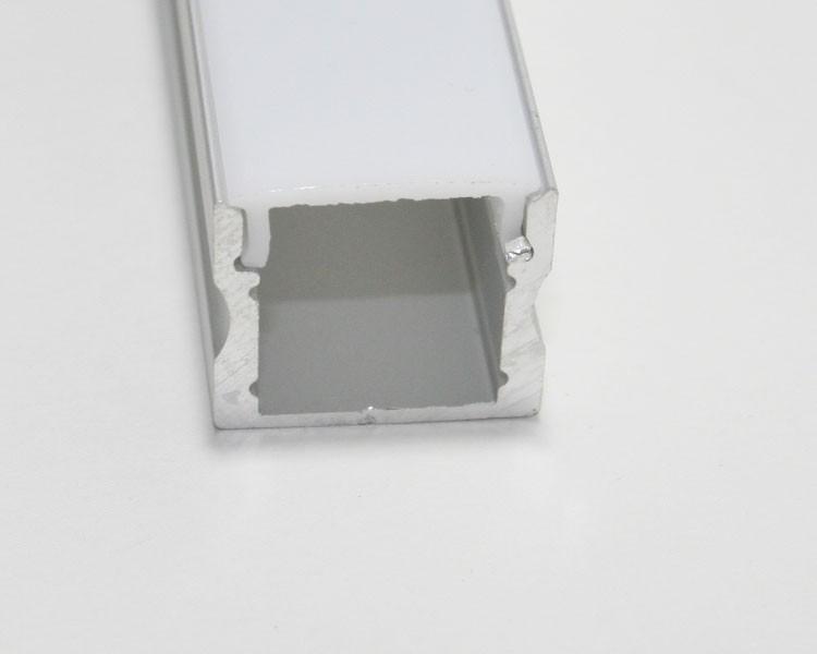 1m U-Profil | Alu hoch | 17x15mm | weiß matte Abdeckung – Bild 5