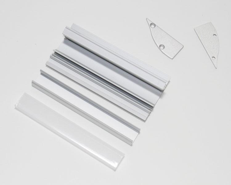 2 Endkappen für 126-263 Wand Profil 50x 30mm – Bild 2