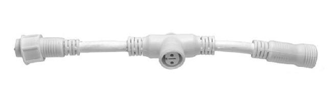 Lichterkette T Verbinderkabel 25cm weiß