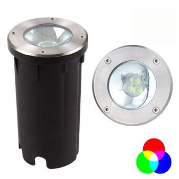 6,5W. RGB 12V.Boden Spot Ø120 mm ohne Controller/Netzteil