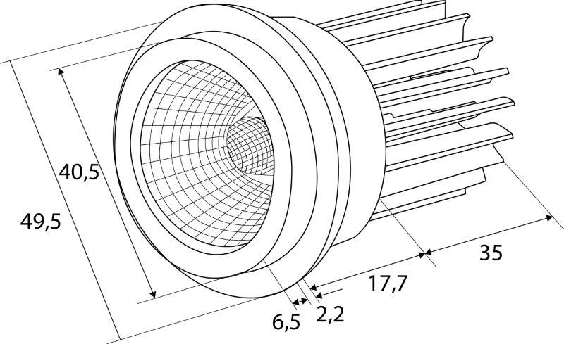 LED Einbaustrahler COB 6,5W | 2700K | 700mA | 509lm – Bild 4
