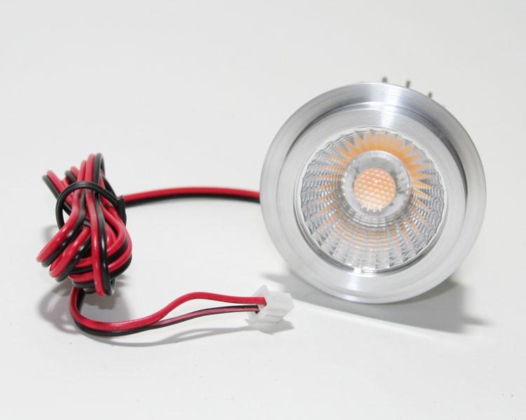 LED Einbaustrahler COB 6,5W | Warmweiß 3000K 300lm | 50mm – Bild 3