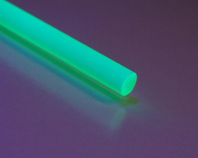 1 m Glow PVC Rundstab fluo grün Ø 6 mm – Bild 1