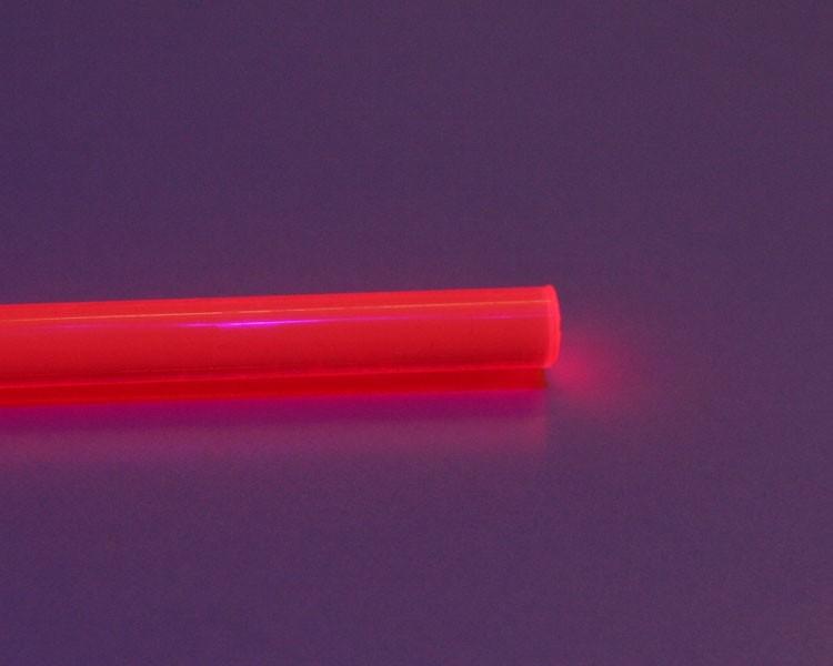 1 m Glow PVC Rundstab fluo rot Ø 6 mm – Bild 2