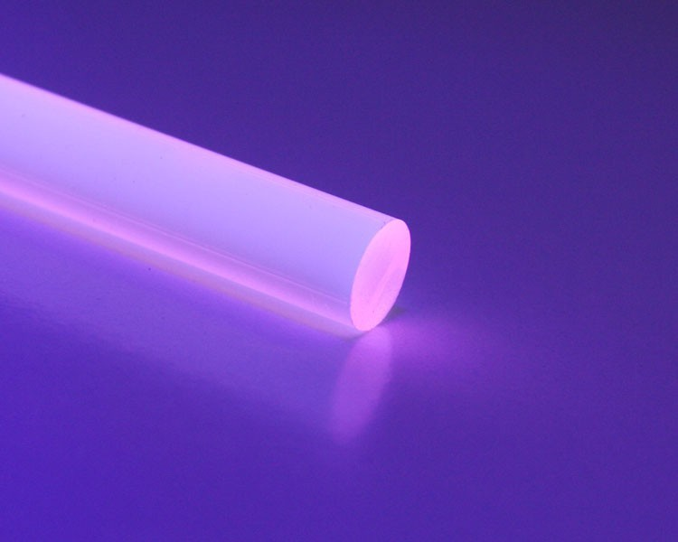 1 m Glow PVC Rundstab fluo rosa Ø 8 mm – Bild 1