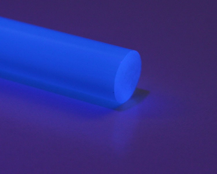 1 m Glow PVC Rundstab fluo blau Ø 10 mm – Bild 1