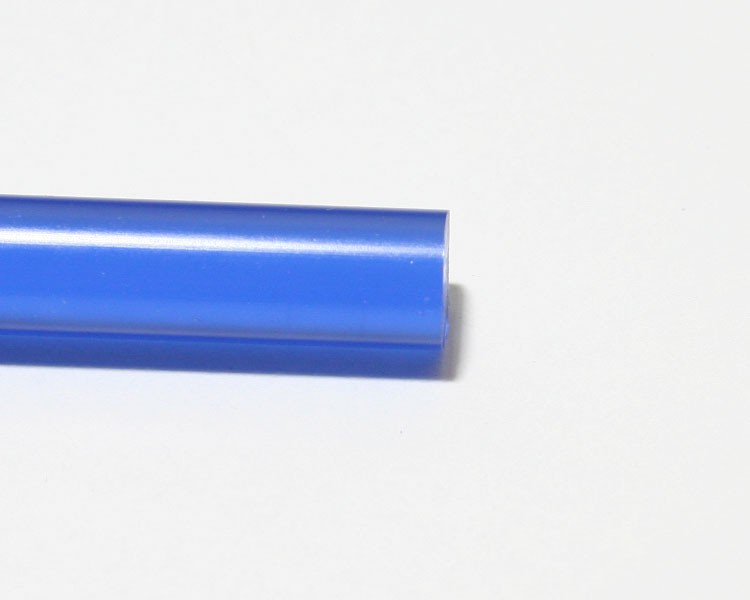 1 m Glow PVC Rundstab fluo blau Ø 10 mm – Bild 4