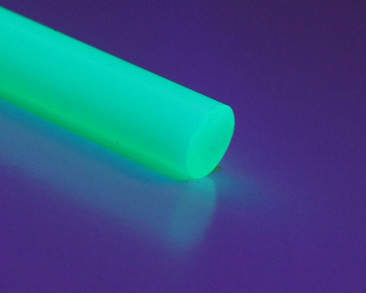 1 m Glow PVC Rundstab fluo grün Ø 10 mm – Bild 1